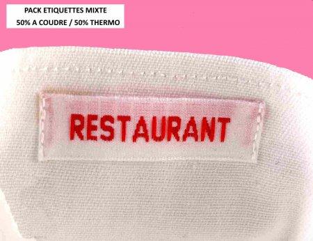 Etiquettes tissées gros caractères à coudre + thermo